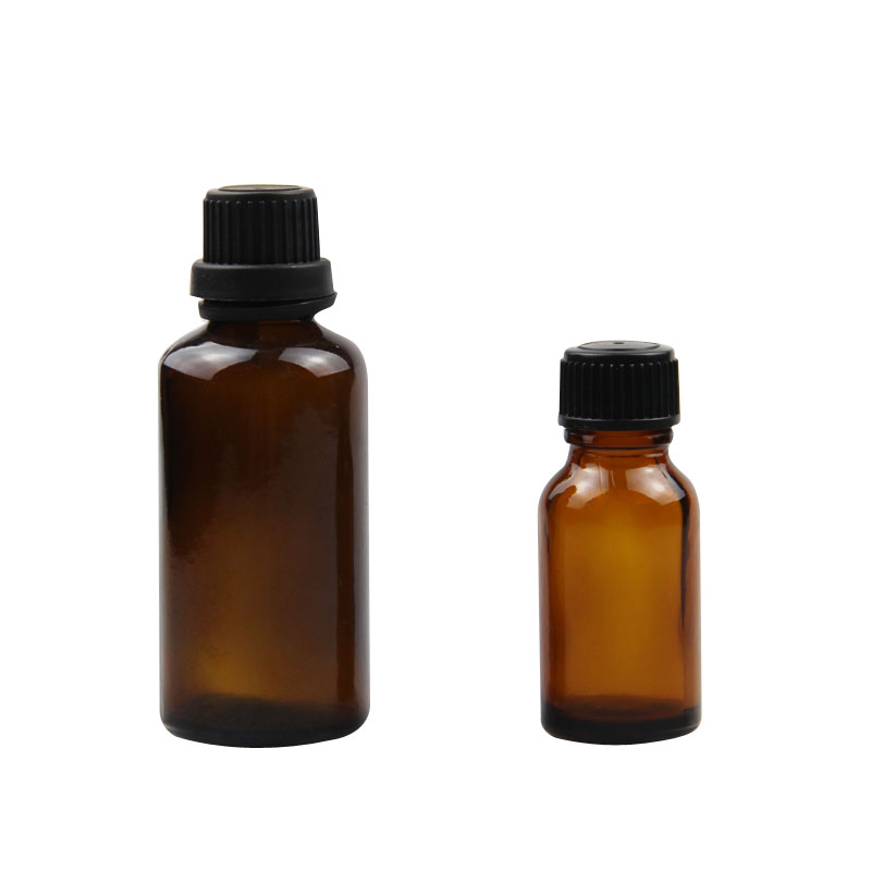 amber cosmetic bottle