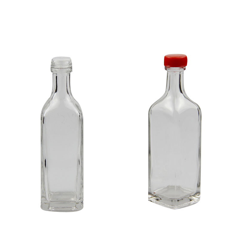Round shape olive oil glass bottle