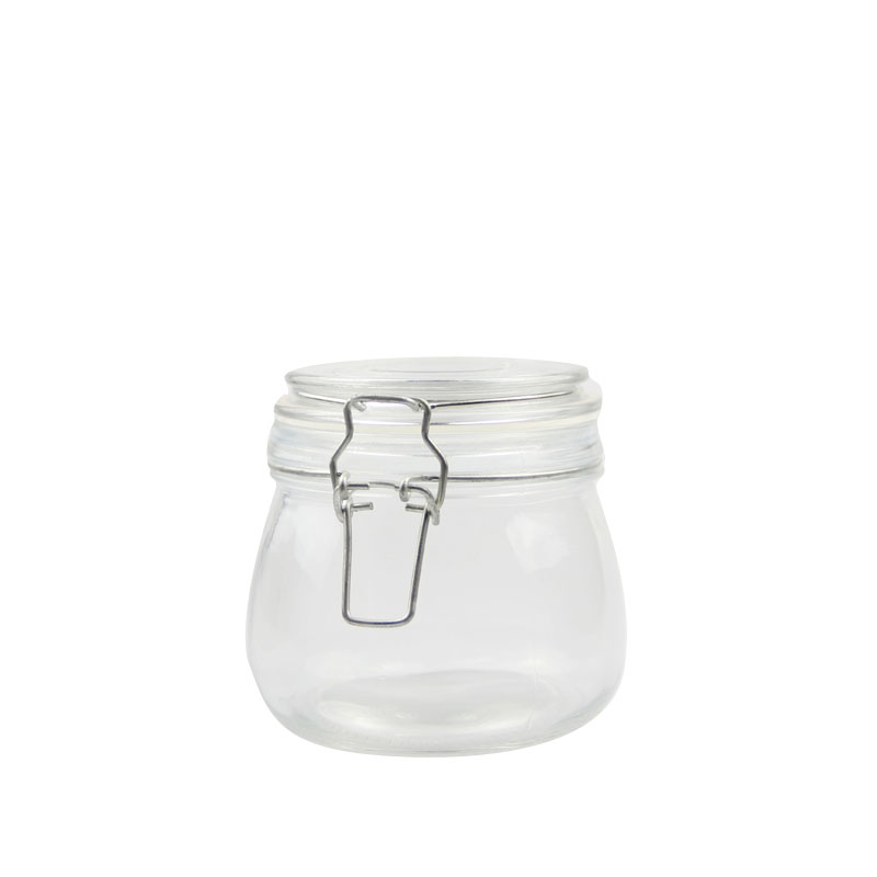 Food Safe Glass Jar With Metal Clip Lid