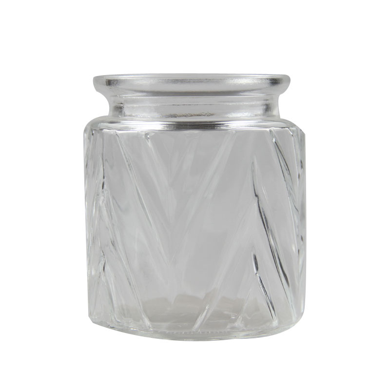 The popular clear glass storage jar with glass lid