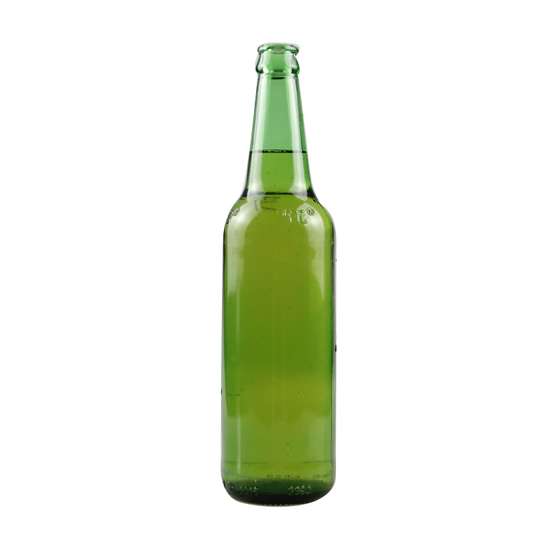 green color 330ml empty glass beer bottle