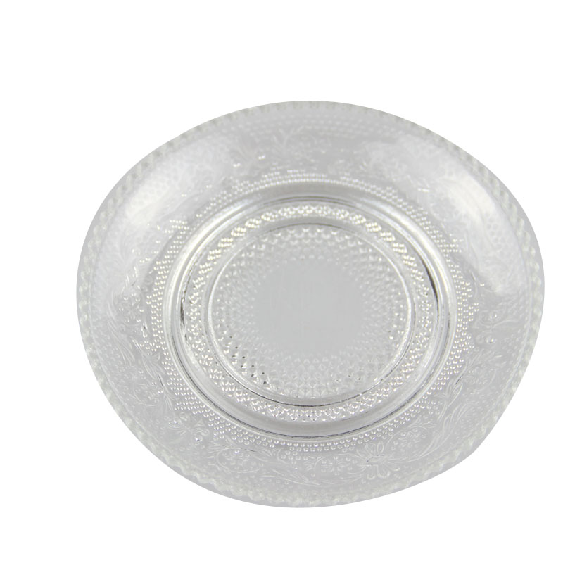 Clear Glass Round Plates