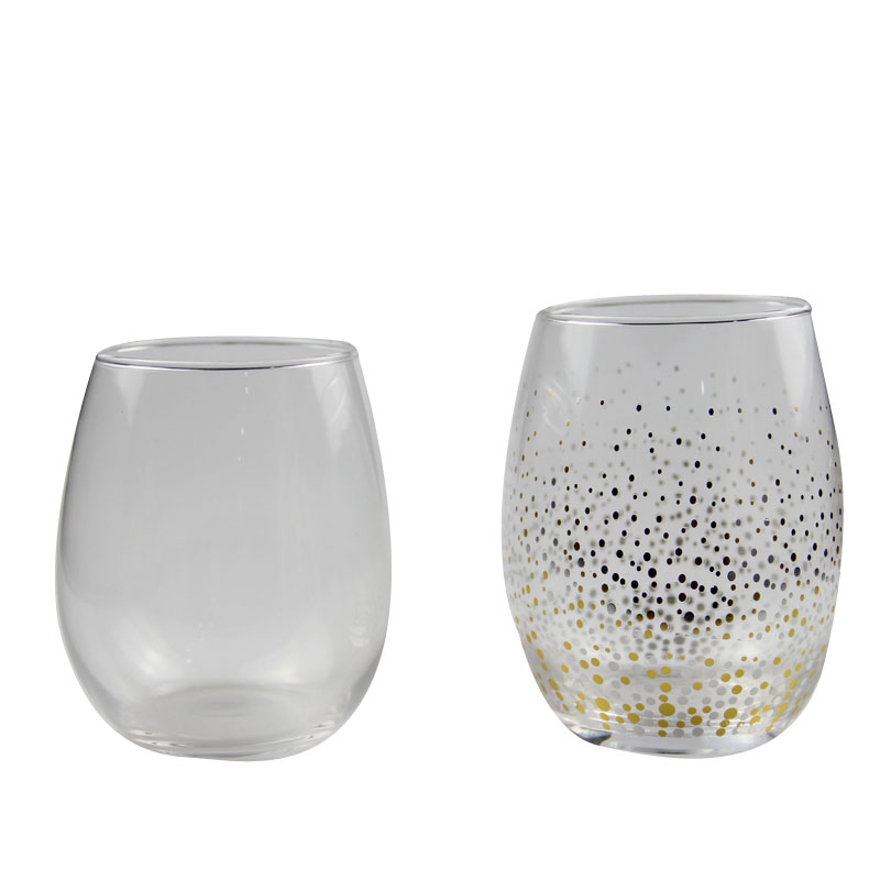 Printed glass cups FACTORY