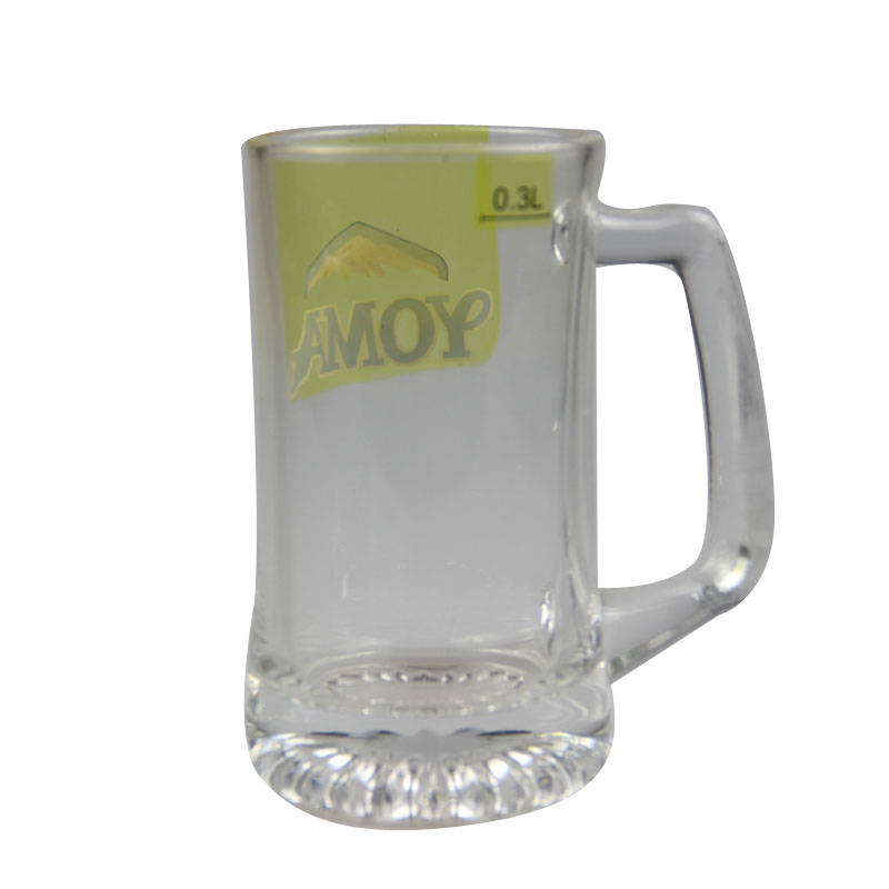 glass mug with handle