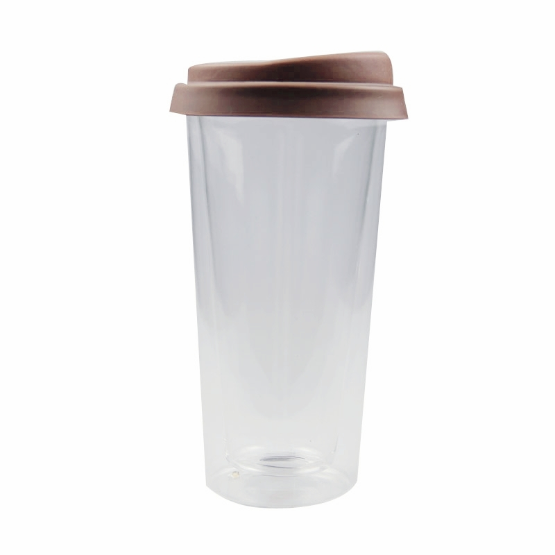 double wall glass coffee with lid