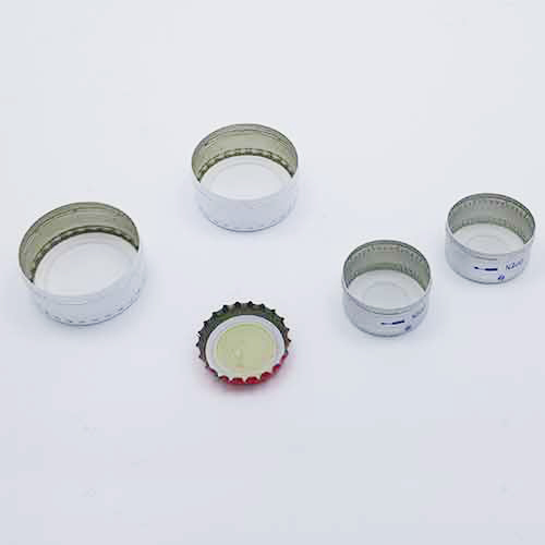 aluminum caps and lids for bottles