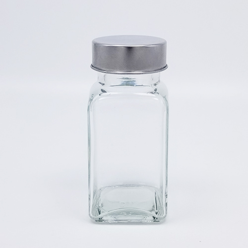 75ml square Pepper seasoning bottle with stainless steel lid