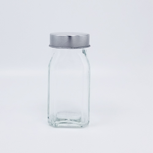 120ml seasoning powder glass bottle 120g glass high quality Hexagon bottle Octagon glass with PP plastic stainless steel lid factory in china