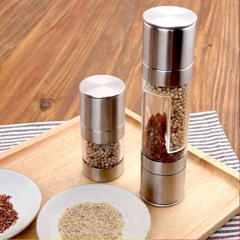 2 in 1 grinder, grinder can contain two seasonings wholesale factory